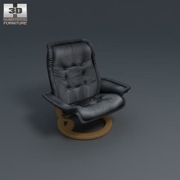 Royal Chair - Ekornes Stressless - 3D Model.
