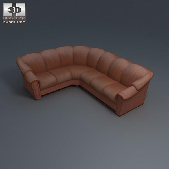 Stockholm corner sofa - Ekornes - 3D Model. - 3DOcean Item for Sale
