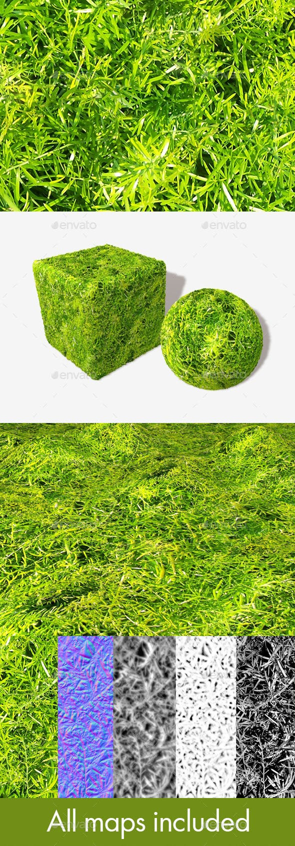 Fern Leaves Seamless Texture - 3DOcean Item for Sale