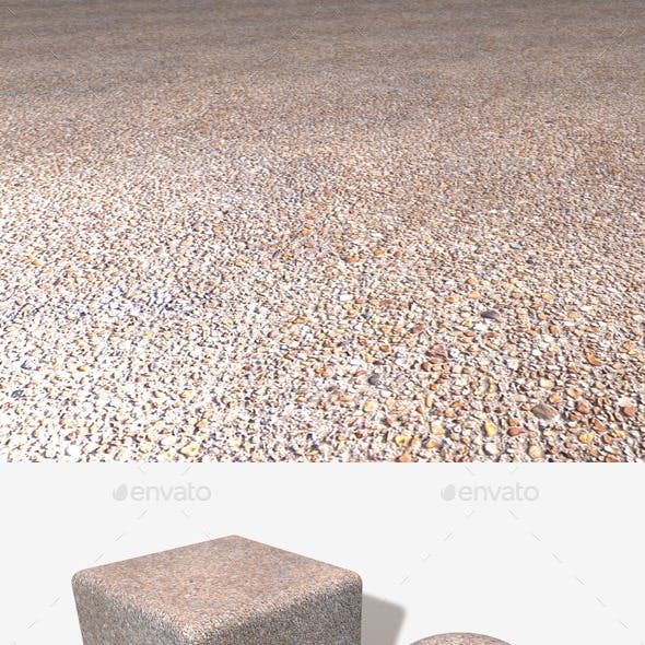 Gravel Pavement Seamless Texture