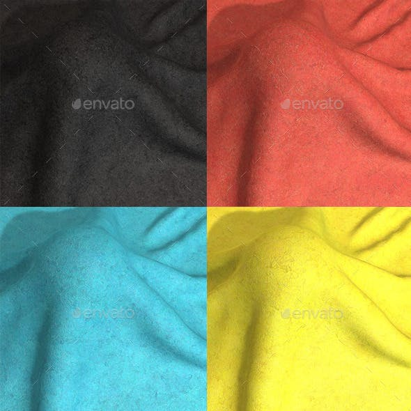 Felt Seamless Texture 6 Colours