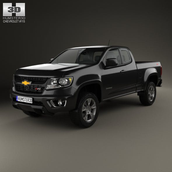Chevrolet Colorado Extended Cab 2014 - 3DOcean Item for Sale