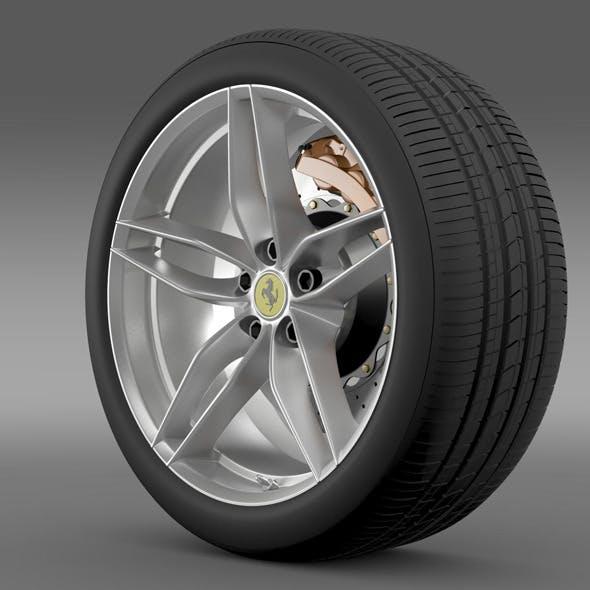 Ferrari 488 GTB 2015 wheel
