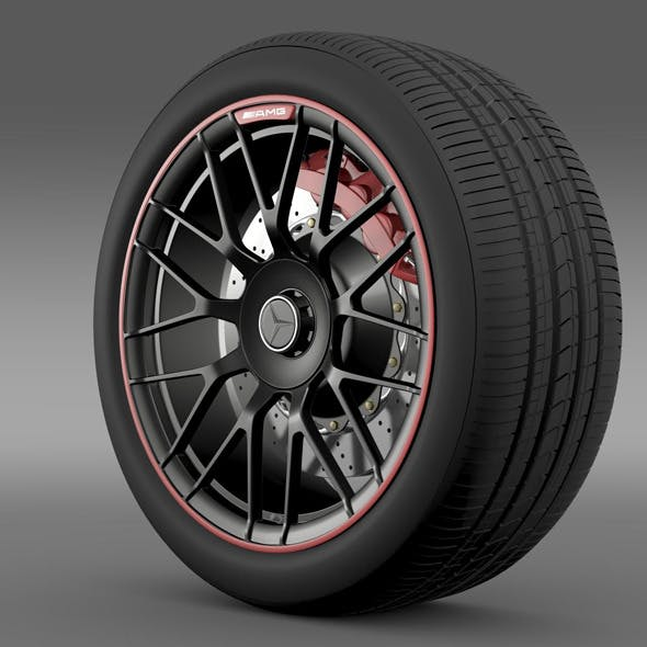 Mercedes AMG C 63 S Edition wheel - 3DOcean Item for Sale