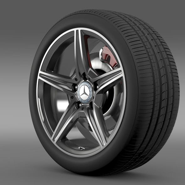 Mercedes Benz C 400 4Matic AMG line wheel - 3DOcean Item for Sale