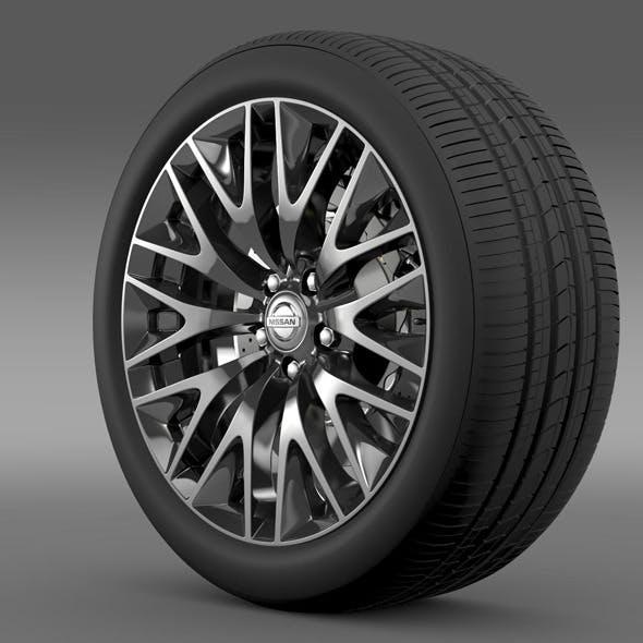 Nissan Cima Hybrid wheel - 3DOcean Item for Sale