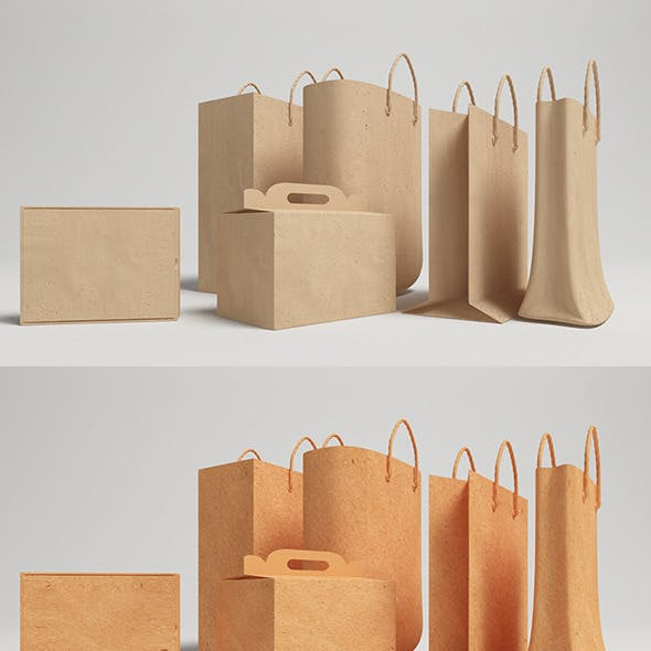 Bags And Box Vray - (C4D)