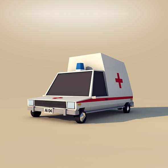 Cartoon Ambulance - 3DOcean Item for Sale