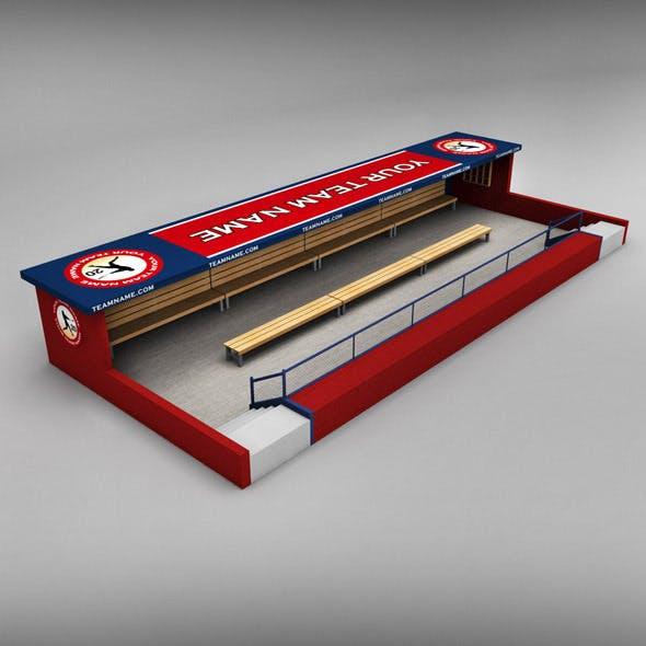 Baseball stadium dugout - 3DOcean Item for Sale