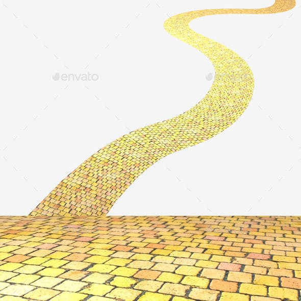 Yellow Brick Road Seamless Texture