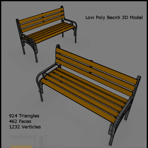 Low Poly Bench
