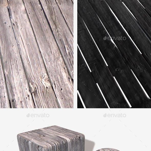 Broken Wooden Planks Seamless Texture