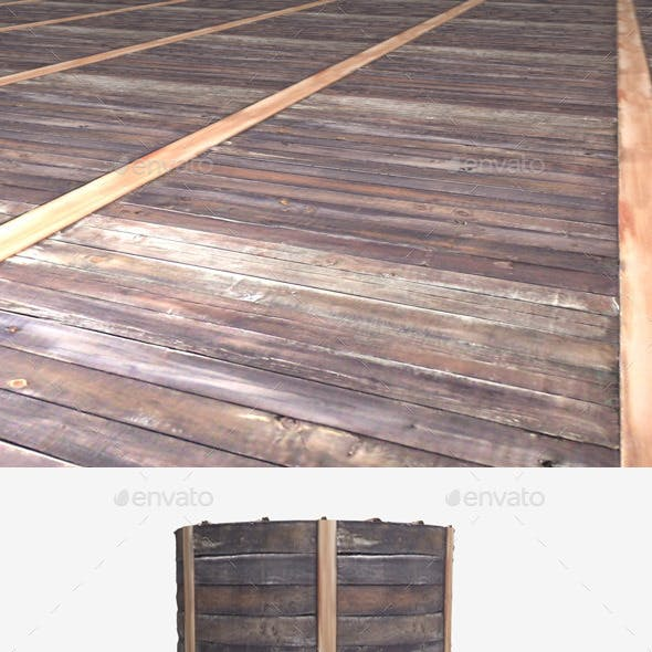 Metal and Wood Panels Seamless Texture