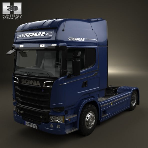 Scania R 730 Tractor Truck 2013 - 3DOcean Item for Sale