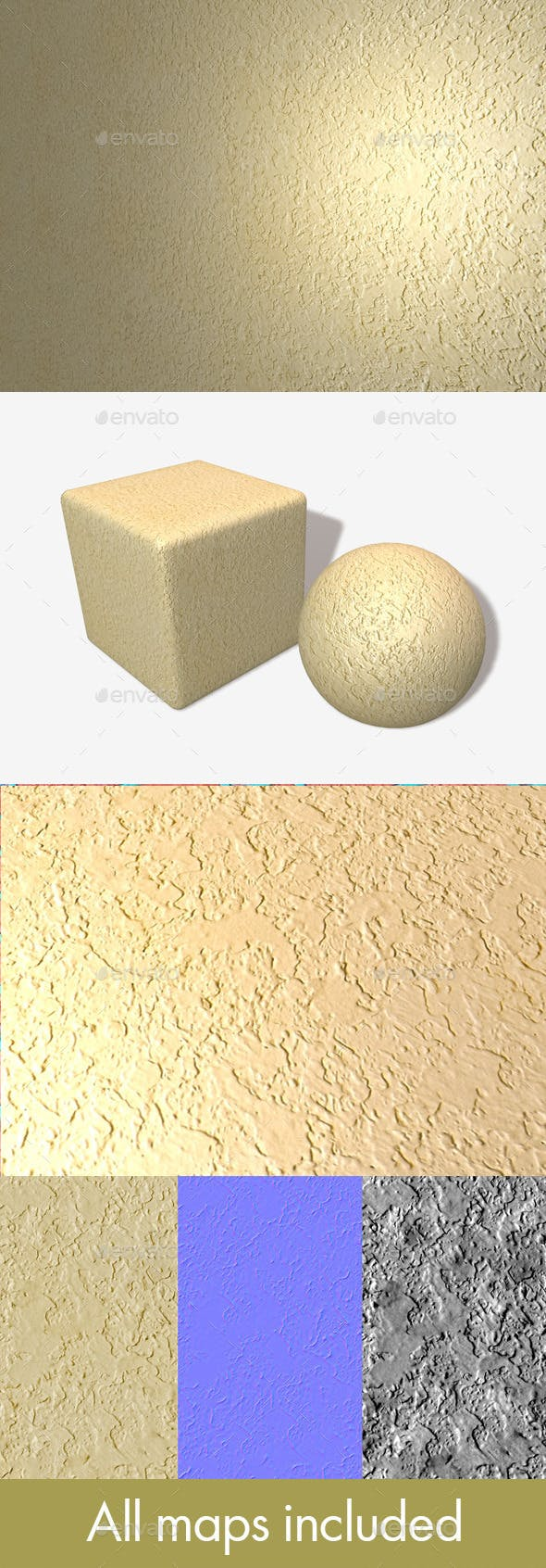Textured Plaster Seamless Texture - 3DOcean Item for Sale