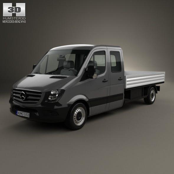 Mercedes-Benz Sprinter Drop Side Double Cab 2013 - 3DOcean Item for Sale