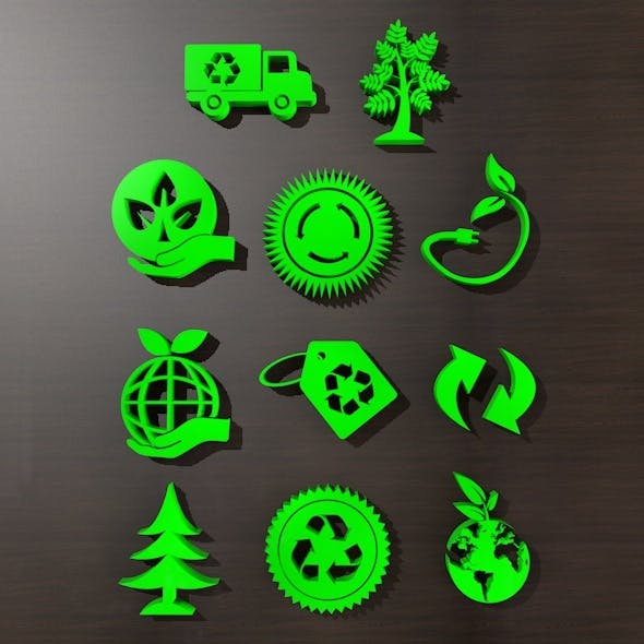 Go Green Icon  - 3DOcean Item for Sale