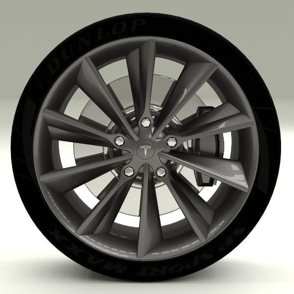 Tesla Model S Wheel - 3DOcean Item for Sale