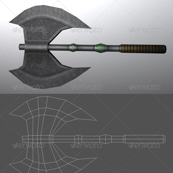 Medieval Axe - Low poly model for Cinema 4D