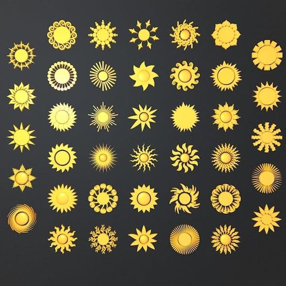 Summer Sun Symbols