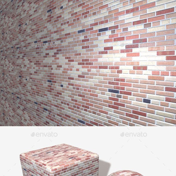 Neat Multicolour Bricks Seamless Texture