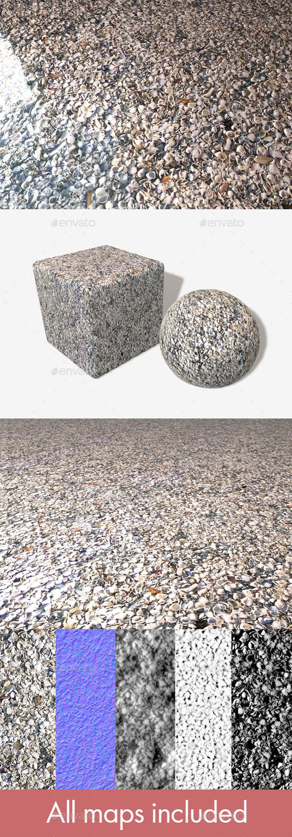 Shells Seamless Texture - 3DOcean Item for Sale