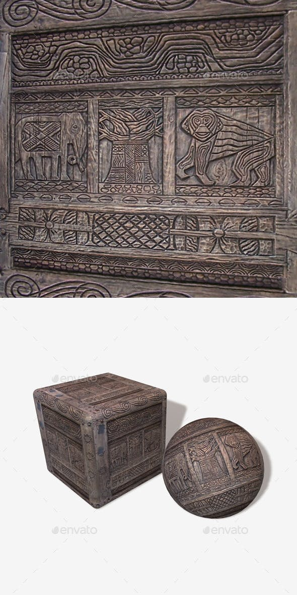 African Wood Carving 1 - 3DOcean Item for Sale