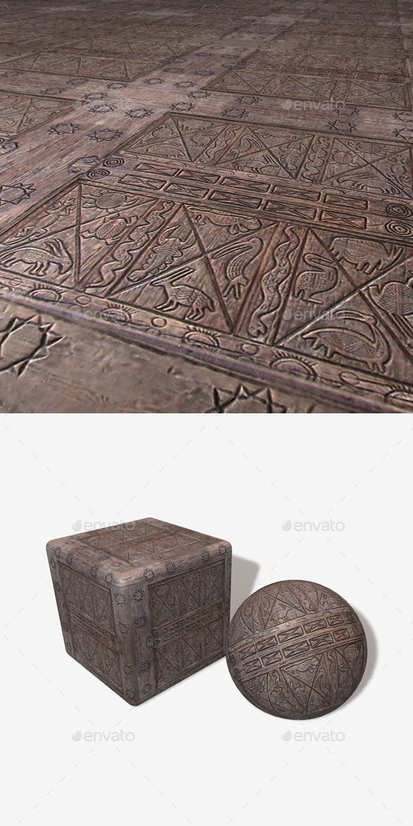 African Wood Carving 2 - 3DOcean Item for Sale