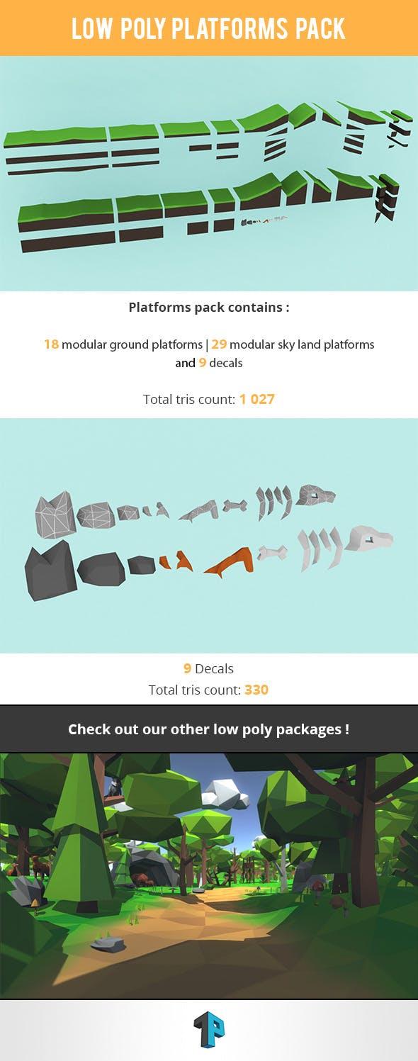 Low Poly Platform Package - 3DOcean Item for Sale