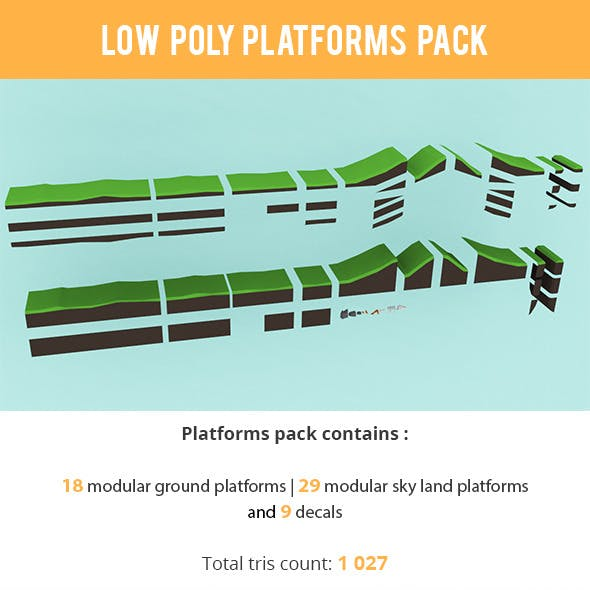 Low Poly Platform Package