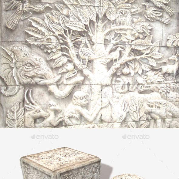Asian Carved Stone Texture 2