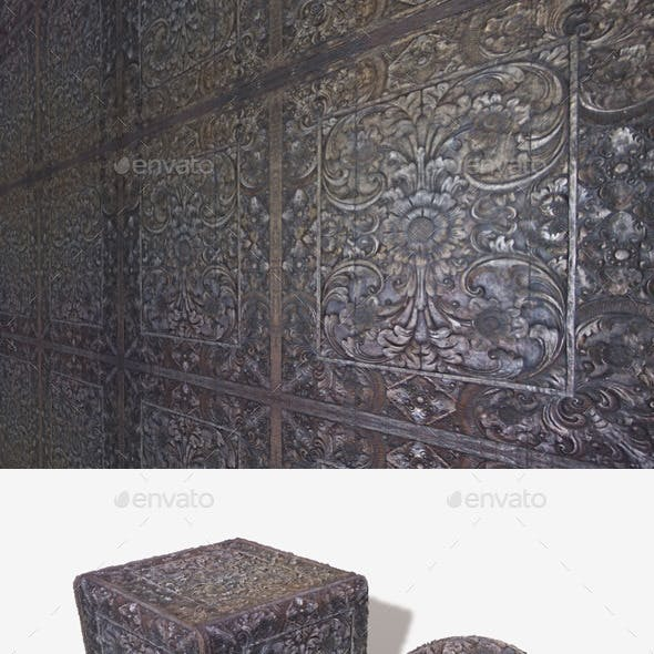 Intricate Carved Wooden Panel