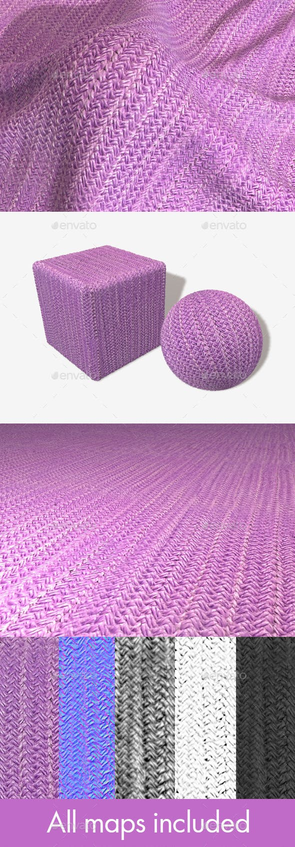 Thick Knitted Fabric Seamless Texture - 3DOcean Item for Sale