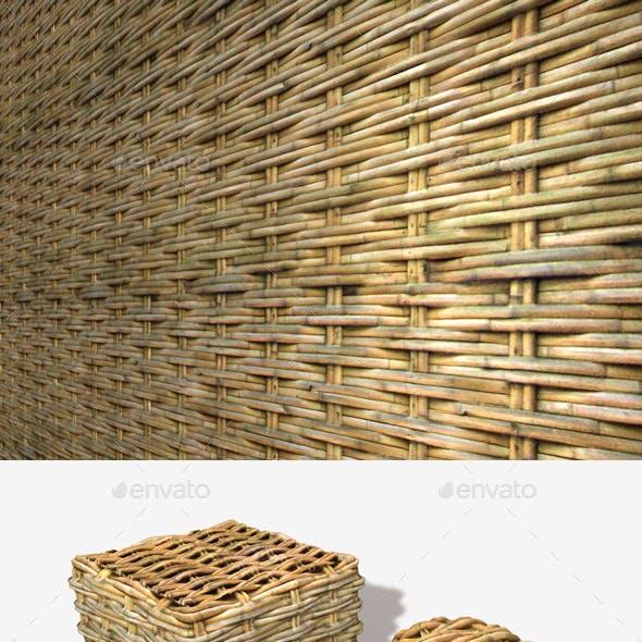 Woven Bamboo Seamless Texture