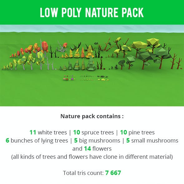 Low Poly Nature Package