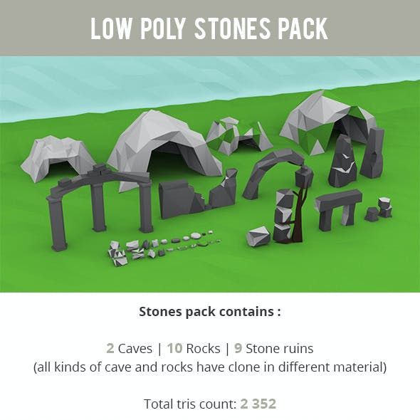 Low Poly Stones Package