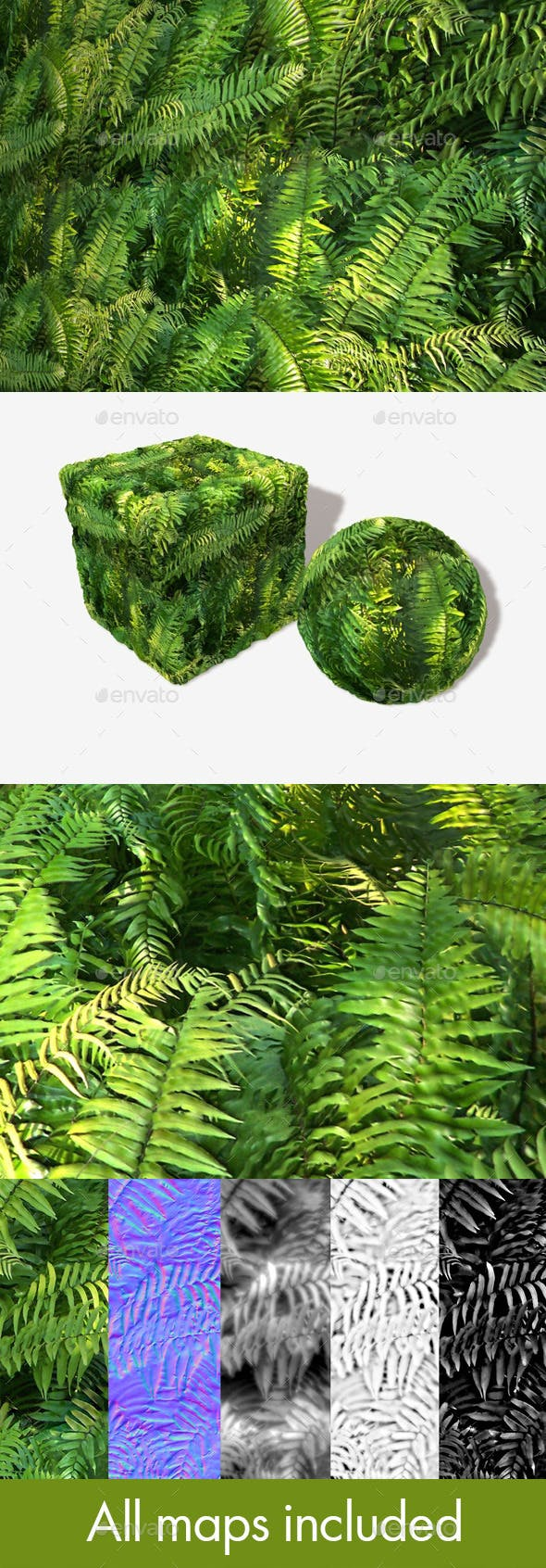 Jungle Fern Seamless Texture - 3DOcean Item for Sale