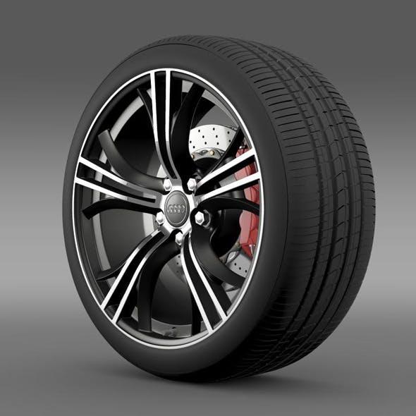 Audi R8 Exclusive wheel - 3DOcean Item for Sale