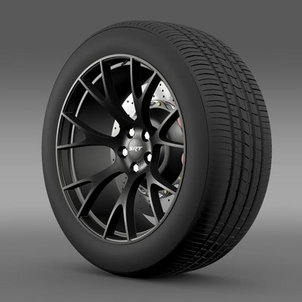 Dodge Challenger Supercharged wheel - 3DOcean Item for Sale