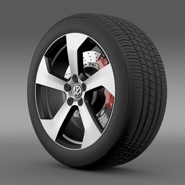 Volkswagen Golf GTI wheel - 3DOcean Item for Sale
