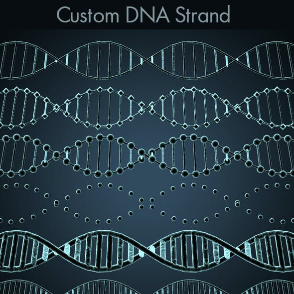 Customisable DNA Strand with Style Options