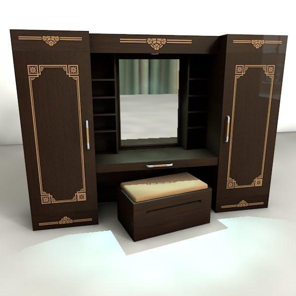 Wardrobe With Dresser - 3DOcean Item for Sale