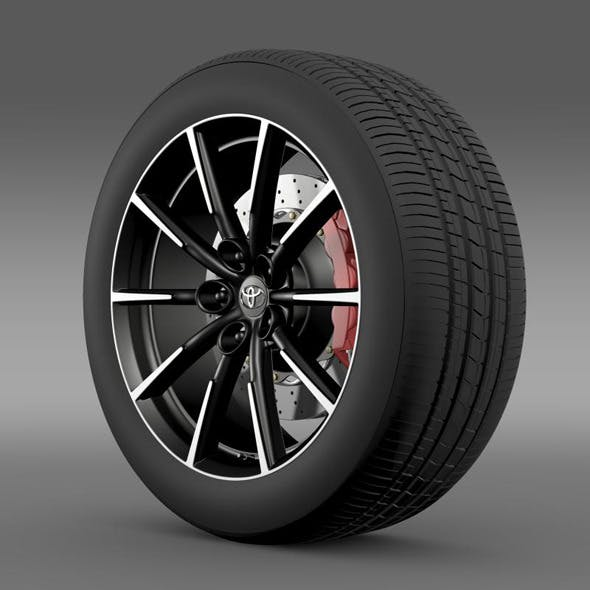 Toyota 86 G wheel - 3DOcean Item for Sale