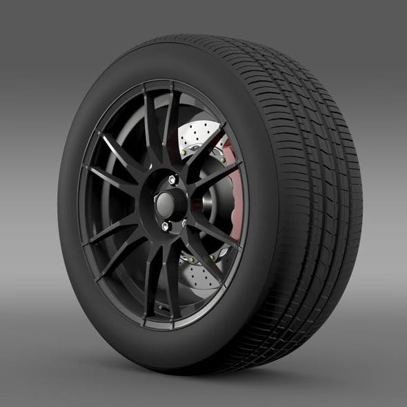 Toyota GT 86 Cup Edition wheel - 3DOcean Item for Sale