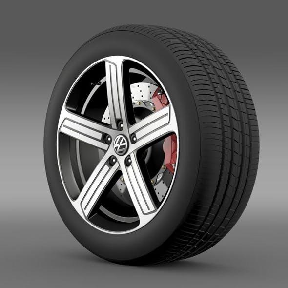 Volkswagen Golf R wheel - 3DOcean Item for Sale