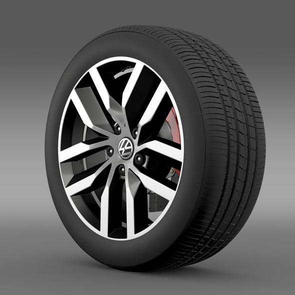 Volkswagen Golf S wheel - 3DOcean Item for Sale