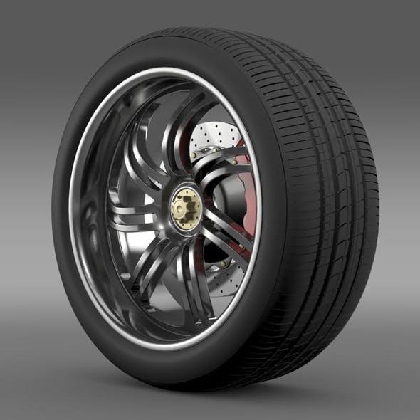 Pagani Huayra wheel - 3DOcean Item for Sale