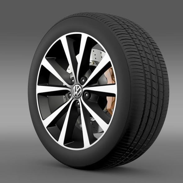 Volkswagen Polo wheel 2014 - 3DOcean Item for Sale