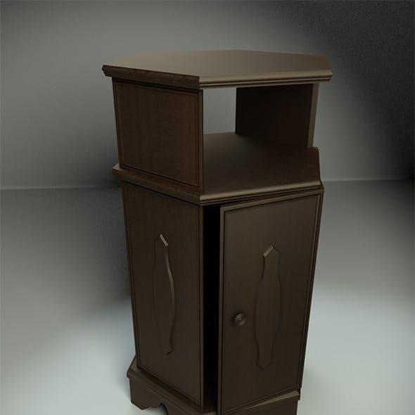 Hexagonal Wooden Cabinet