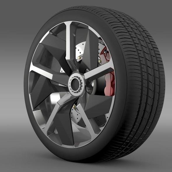 Lamborghini Aventador J wheel - 3DOcean Item for Sale